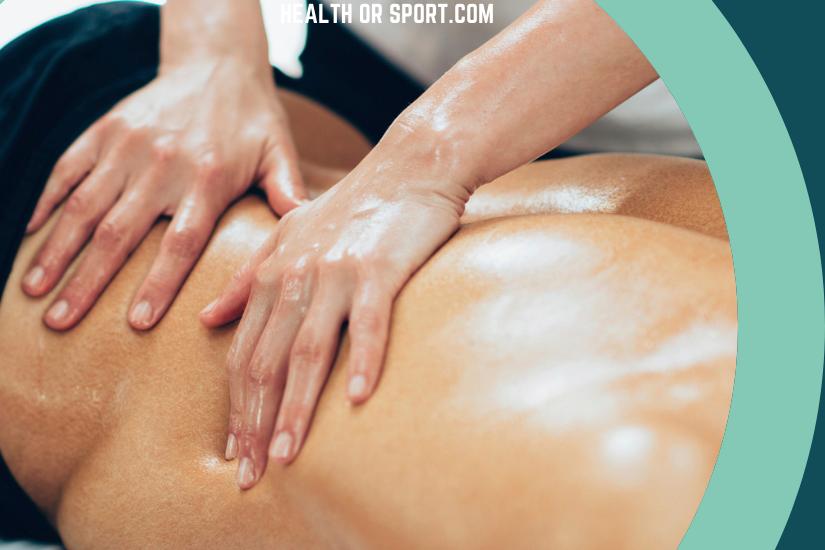 Athlete being massaged